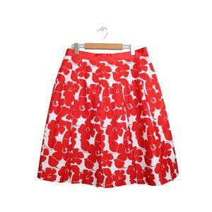 Mario Serrani Italy Bright Floral Pleated Skirt